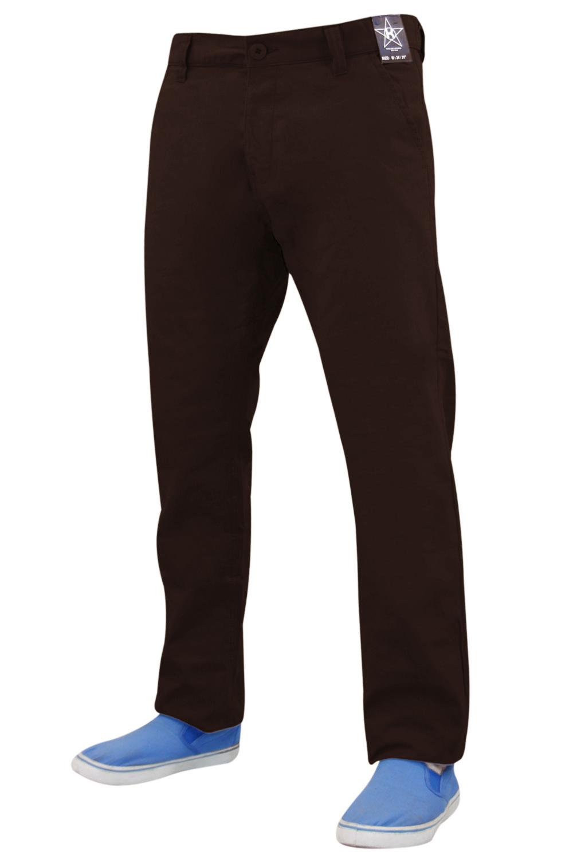 Mens New Kushiro Slim Fit Twill Chino Cotton Straight Leg Trousers Pant
