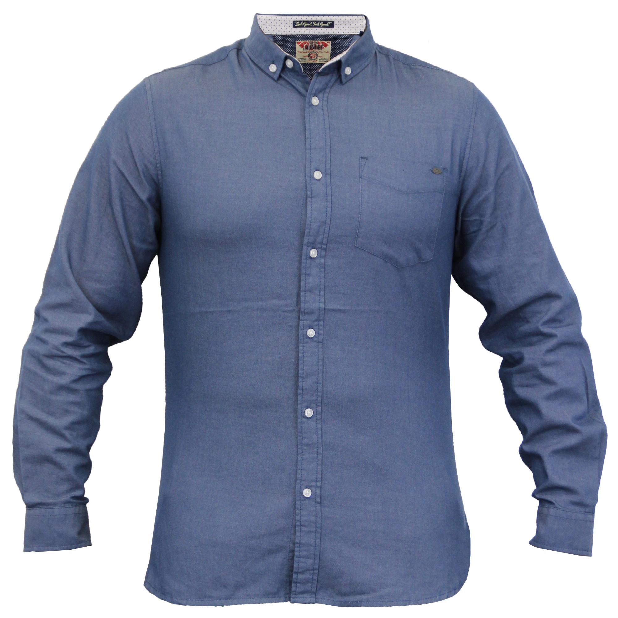 Herren-langaermlig-Baumwolle-Hemden-von-Tokyo-Laundry