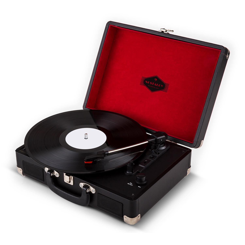 auna tourne disque en mallette phono valise r tro vinyles. Black Bedroom Furniture Sets. Home Design Ideas