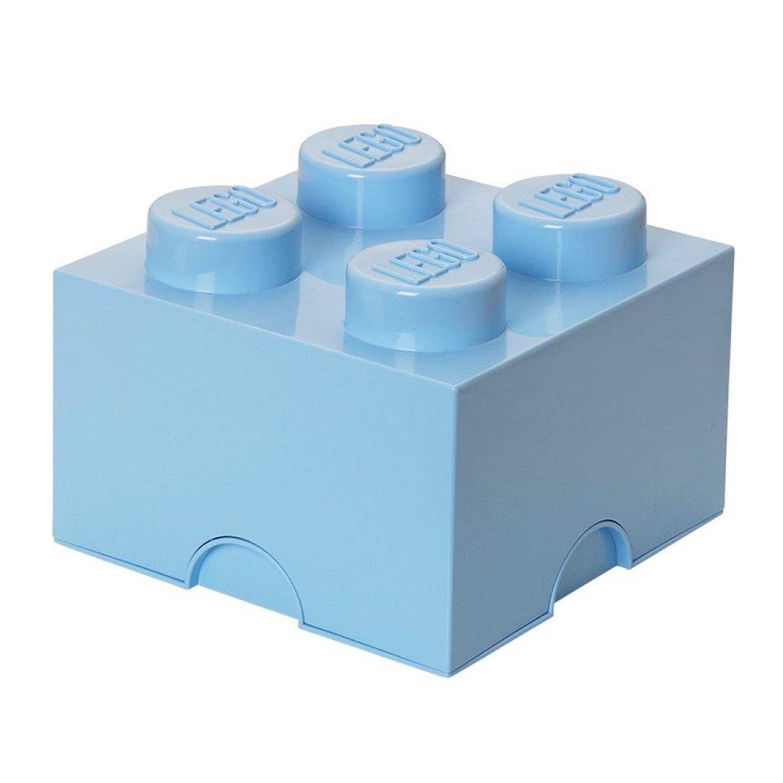 Lego almacenaje ladrillo caja 4 pomos infantil dormitorio sala juegos ebay - Caja almacenaje infantil ...
