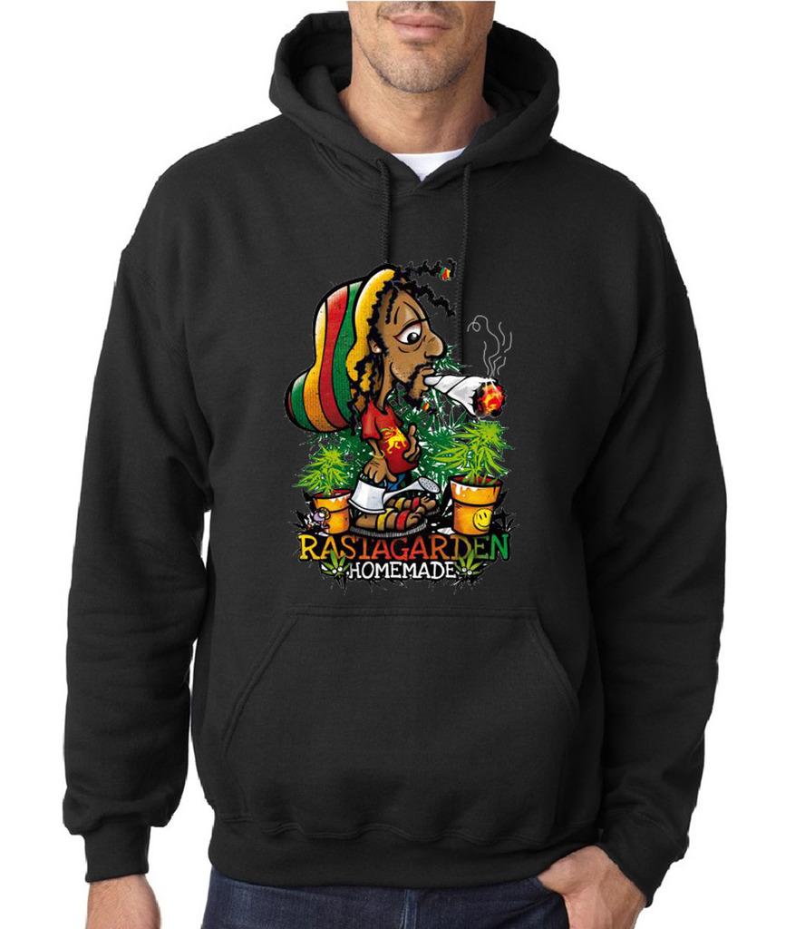 Hierba-Rasta-Jardin-Homemade-del-Caribe-Hombre-Sudaderas-Todas-Las-Tallas-Negro