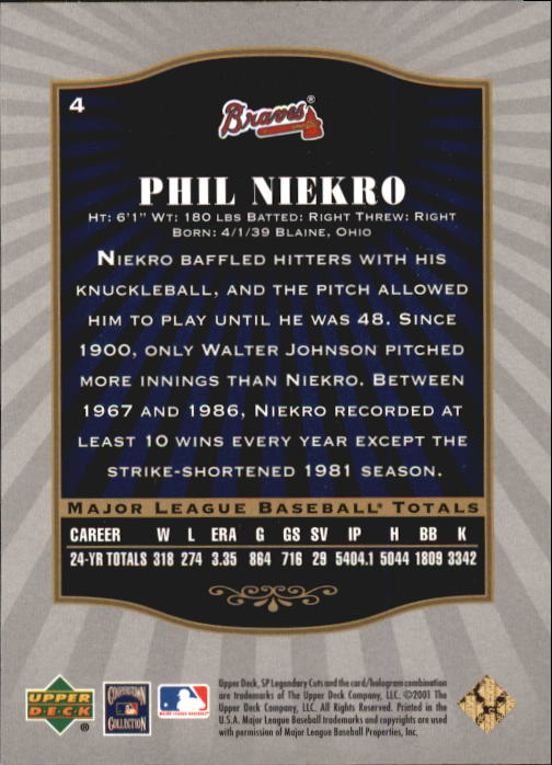 2001-SP-Legendary-Cuts-Baseball-YOU-PICK thumbnail 9