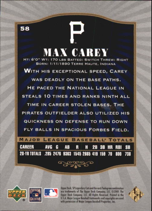 2001-SP-Legendary-Cuts-Baseball-YOU-PICK thumbnail 109