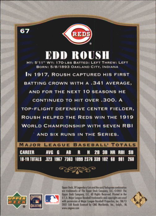 2001-SP-Legendary-Cuts-Baseball-YOU-PICK thumbnail 125