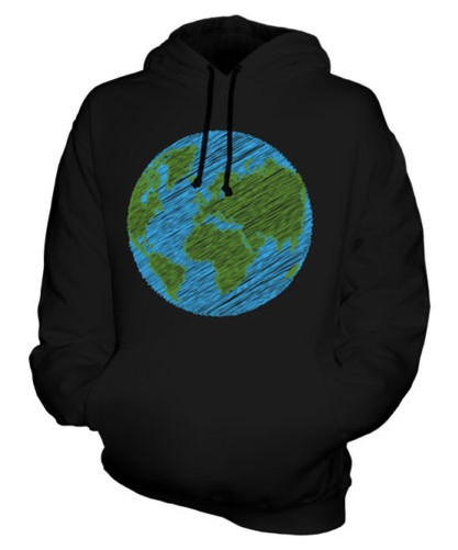 Garabateadas Tierra Sudadera Capucha Unisex Regalo Top Paz Planet