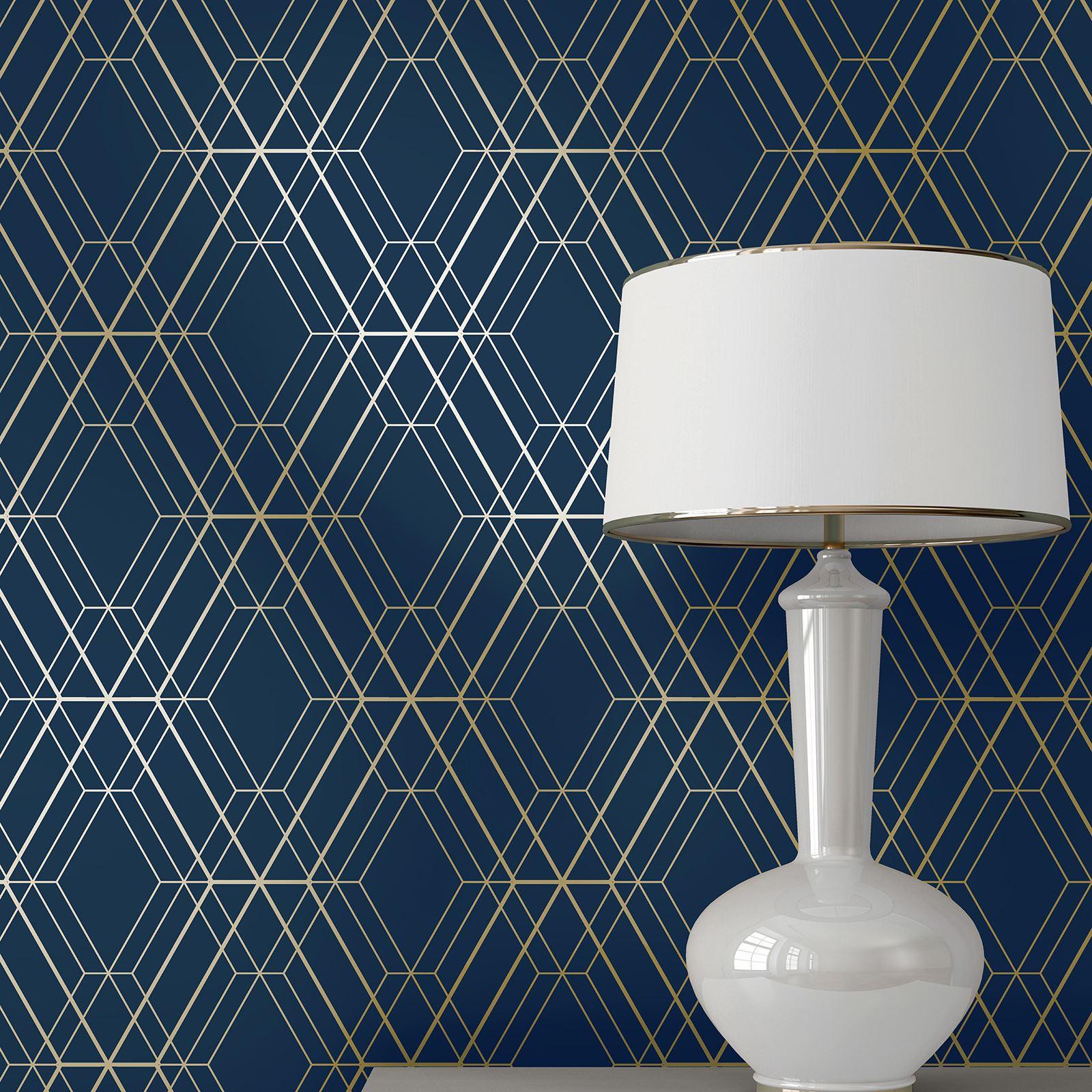 bleu nuit marine fonc papier peint c l brit s floral. Black Bedroom Furniture Sets. Home Design Ideas