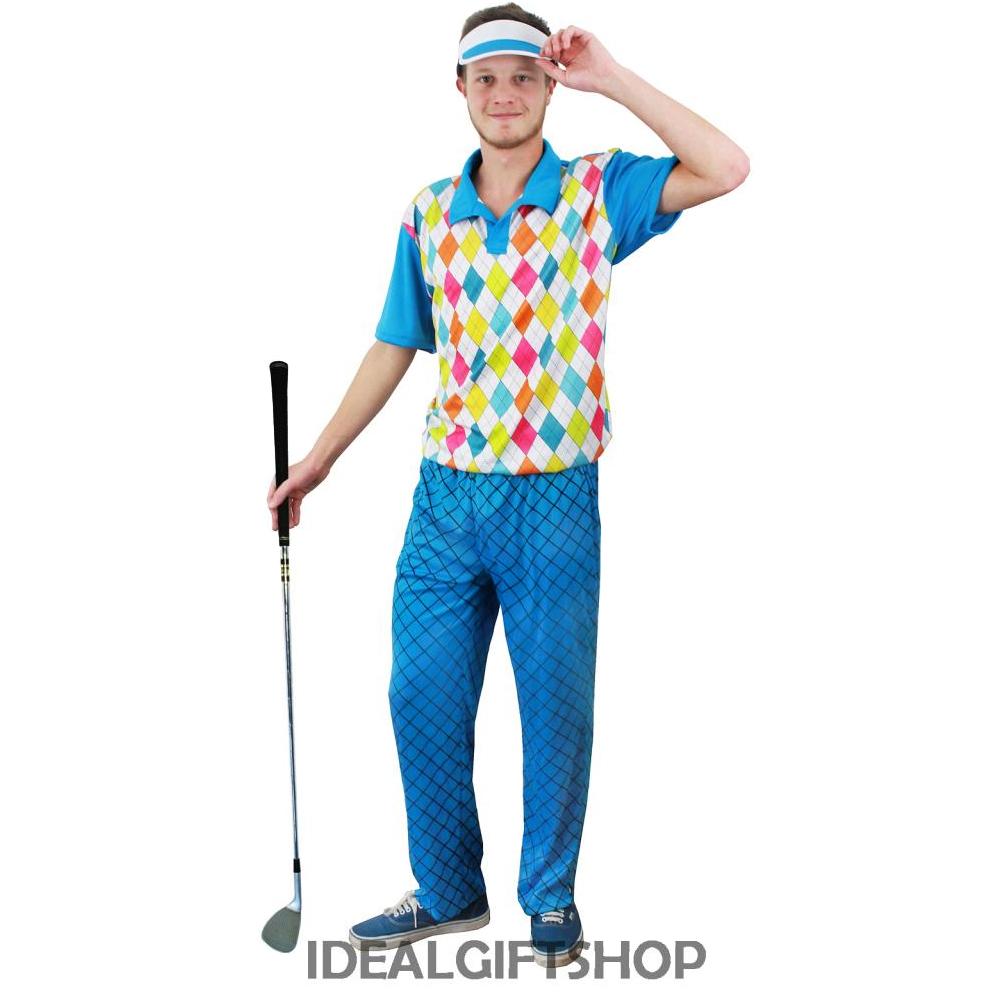 golfspieler golfen fancy dress outfit herren damen paar gruppe golf kost m pub ebay. Black Bedroom Furniture Sets. Home Design Ideas