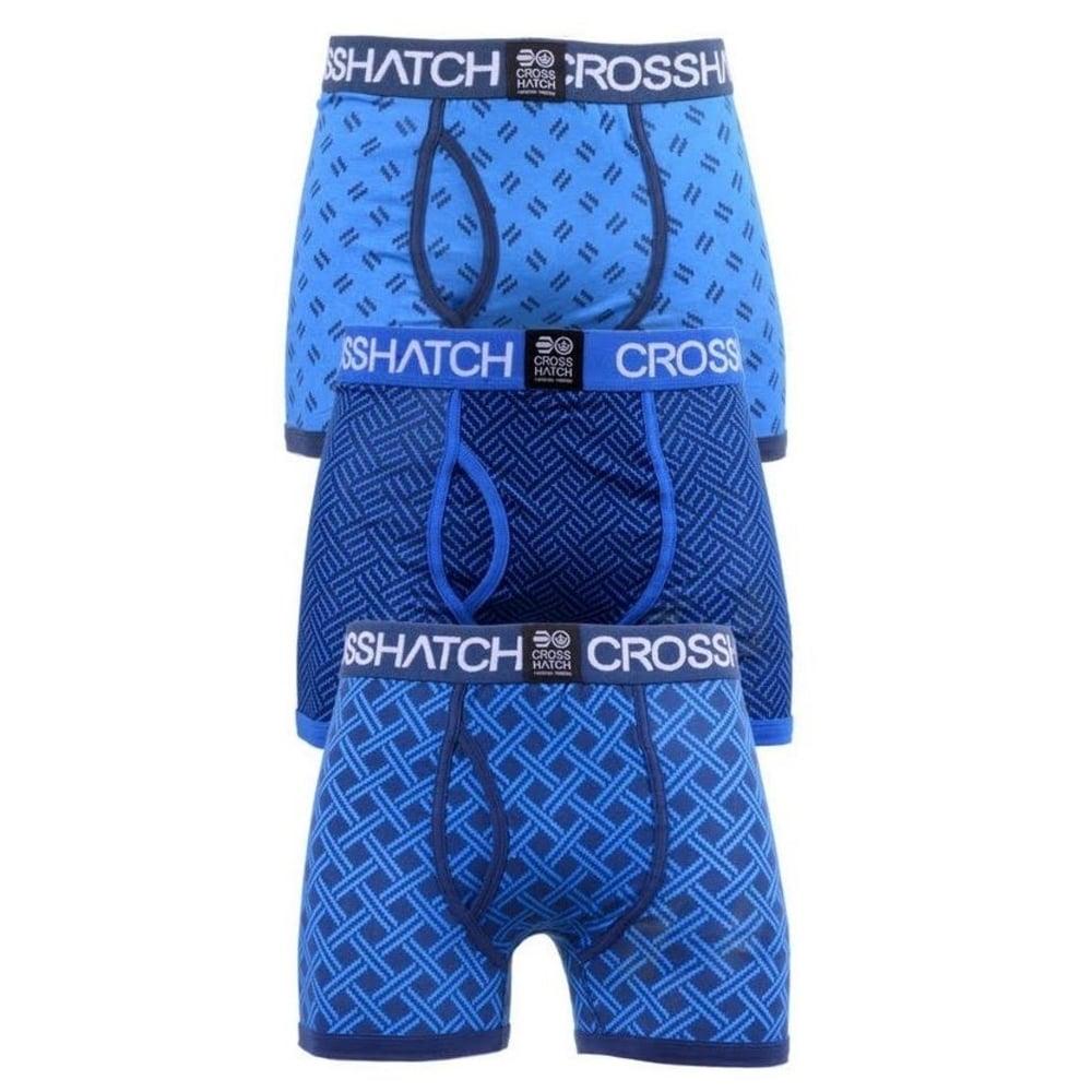 New-Crosshatch-Mens-Cotton-Boxer-Shorts-Underwear-Trunks-2-amp-3-Pack-BNIP