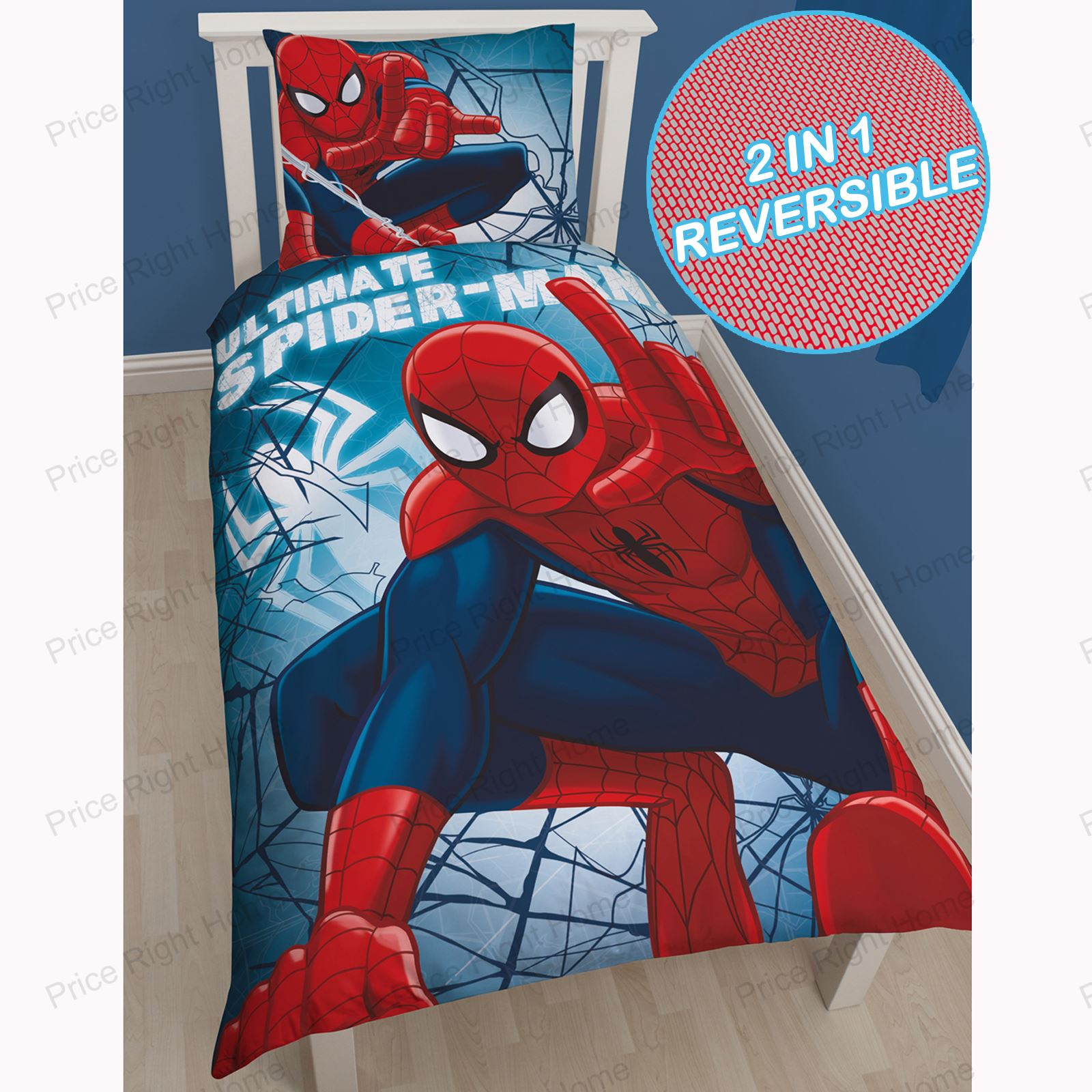 Marvel spiderman housse de couette ensembles enfants for Housse couette spiderman