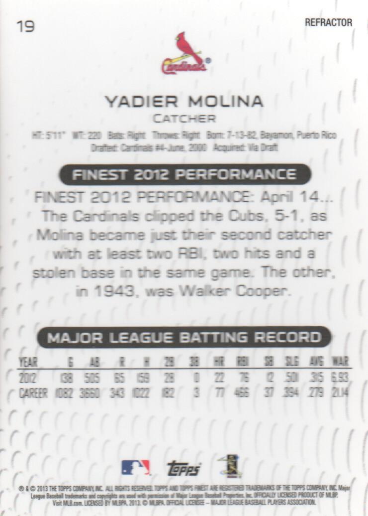 2013-Mejores-X-Fractors-Beisbol-Tarjeta-Recoger miniatura 7