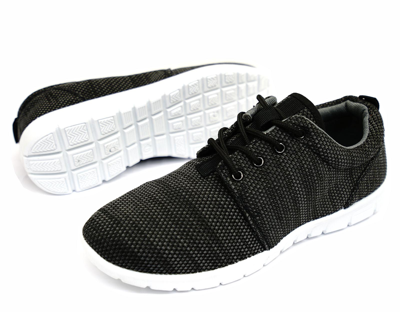 Herren grau zum Schnüren Memory foam Turnschuhe Freizeit Plimsolls Pumps Schuhe