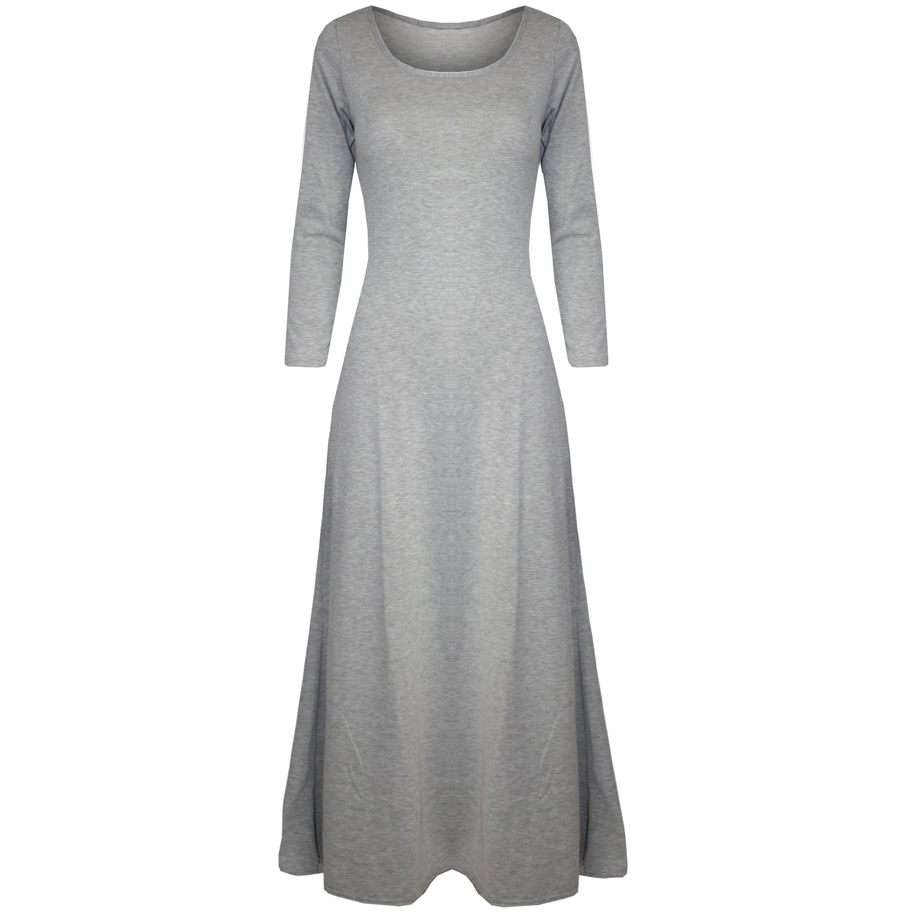 Womens Maxi Dress Ladies 3/4 Sleeve Celebrity Stretchy ...