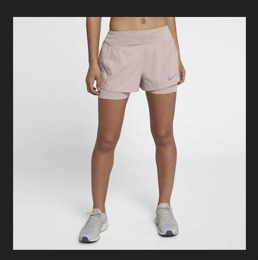 Detalles de Nike Eclipse 7.6cm Mujer Dri Fit 2in1 Atletismo Shorts de Entrenamiento Ajustado