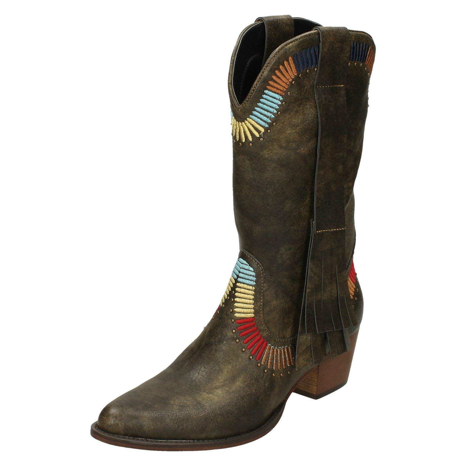 Damen ' Down To Stiefel Earth 'Cowboy Stil Stiefel To a290fa