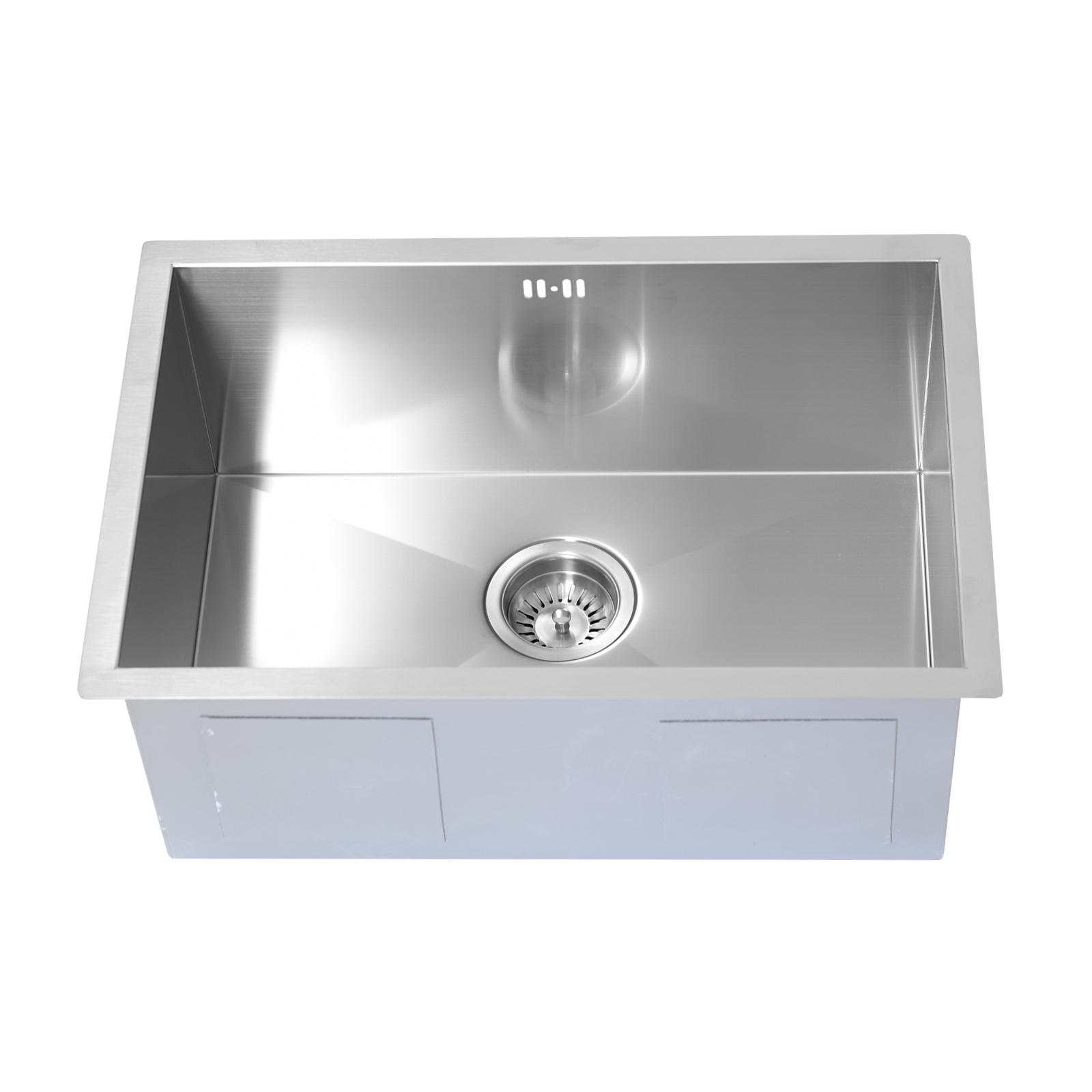 Enki single double 1 5 bowl reversible stainless steel kitchen sink - Enki Undermount Kitchen Sink Premium Stainless Steel Single