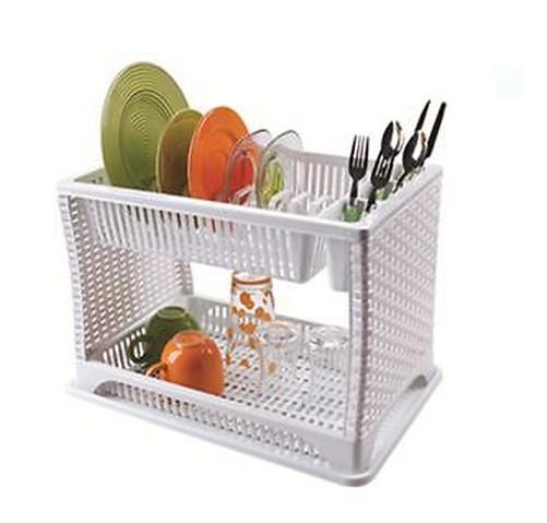 gouttoir vaisselle en plastique deux 2 couche plateau ustensile couverts ebay. Black Bedroom Furniture Sets. Home Design Ideas