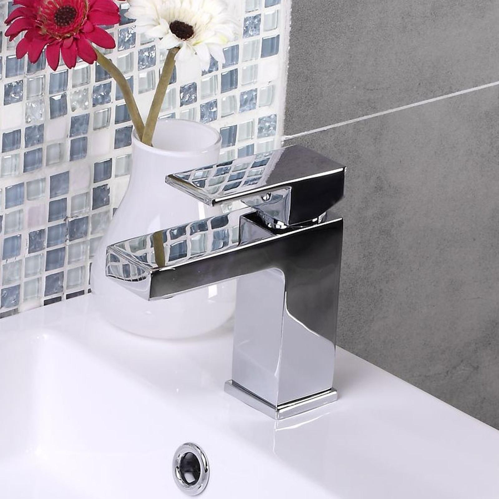 ENKI Milan Design Quadrato Rubinetto Doccia Lavabo Bagno rubinetto ...
