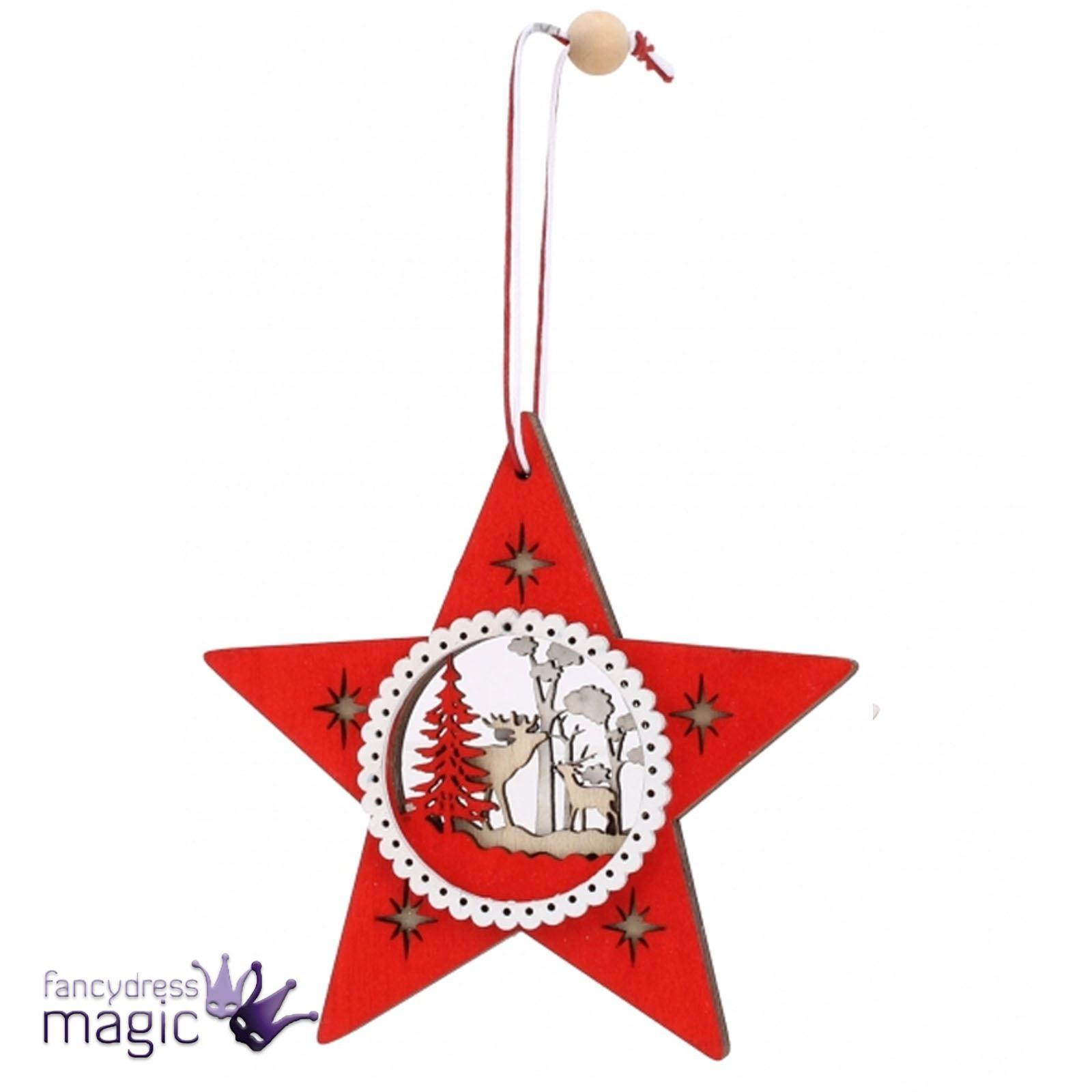 Madera-Corte-Navidad-Escena-Festivo-Tradicional-Estrella-arbol