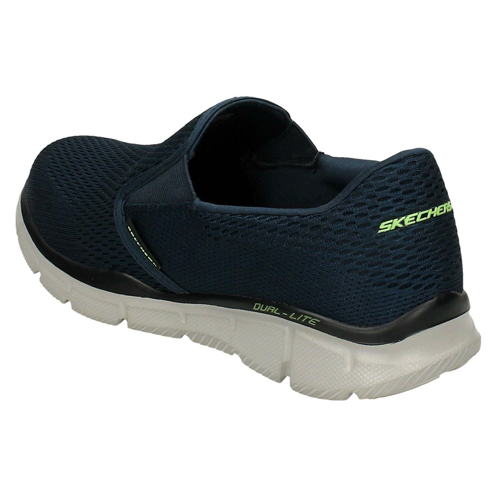 Detalles de Hombre Skechers Espuma Viscoelástica Zapatos para Andar Double Play