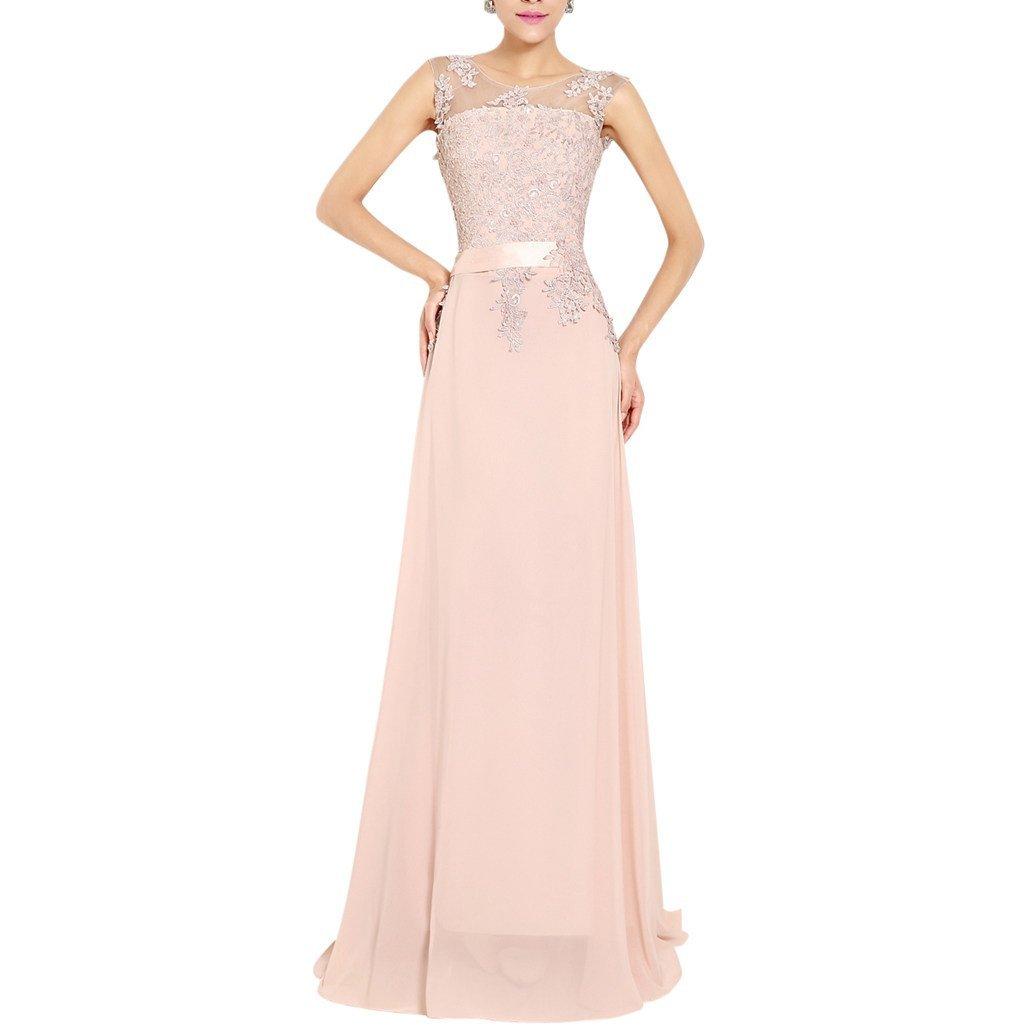 traje de ceremonia mujer gasa dama vestido largo elegante de fiesta ...