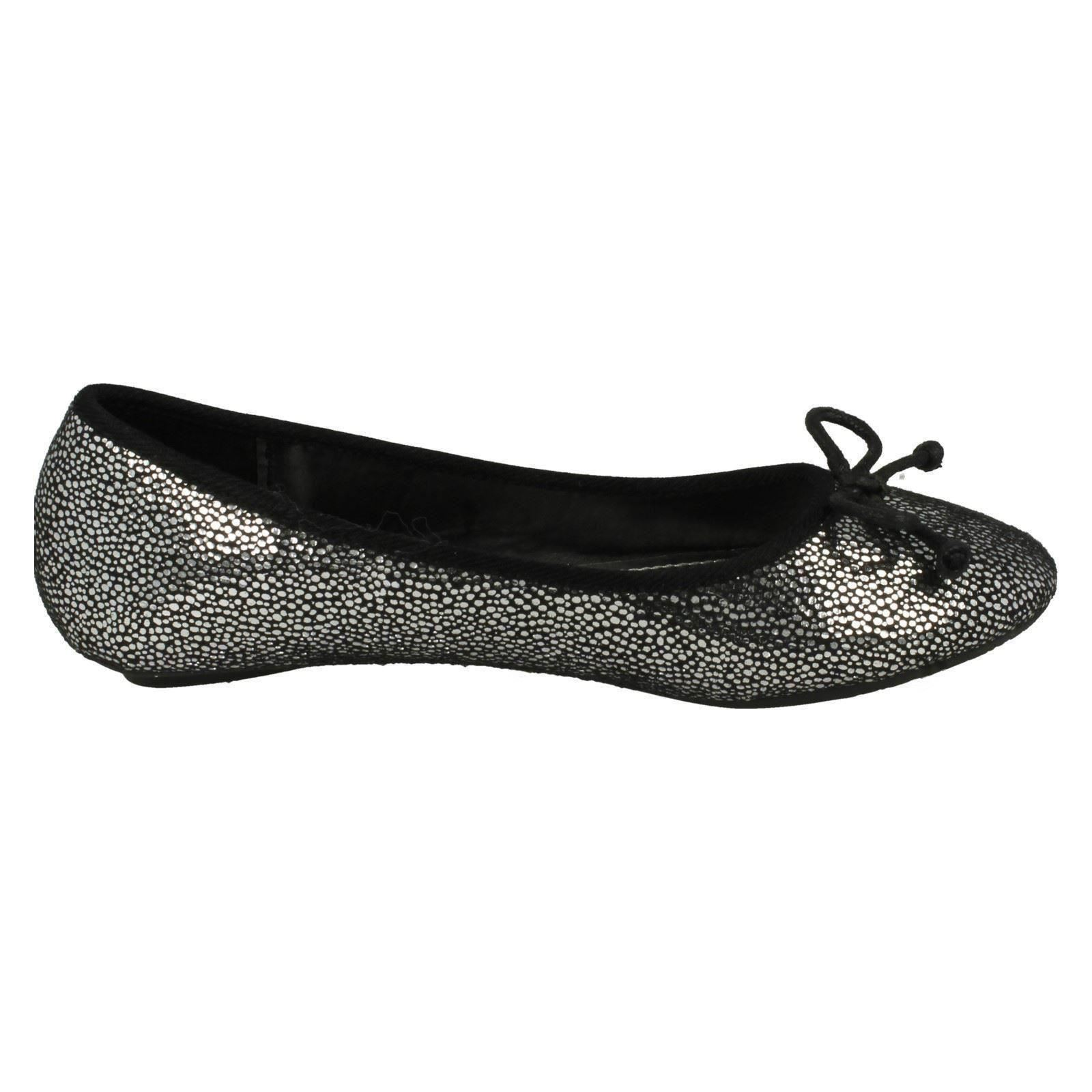 Girls Spot On Ballerina Bow Detail Flat /'Shoes/'