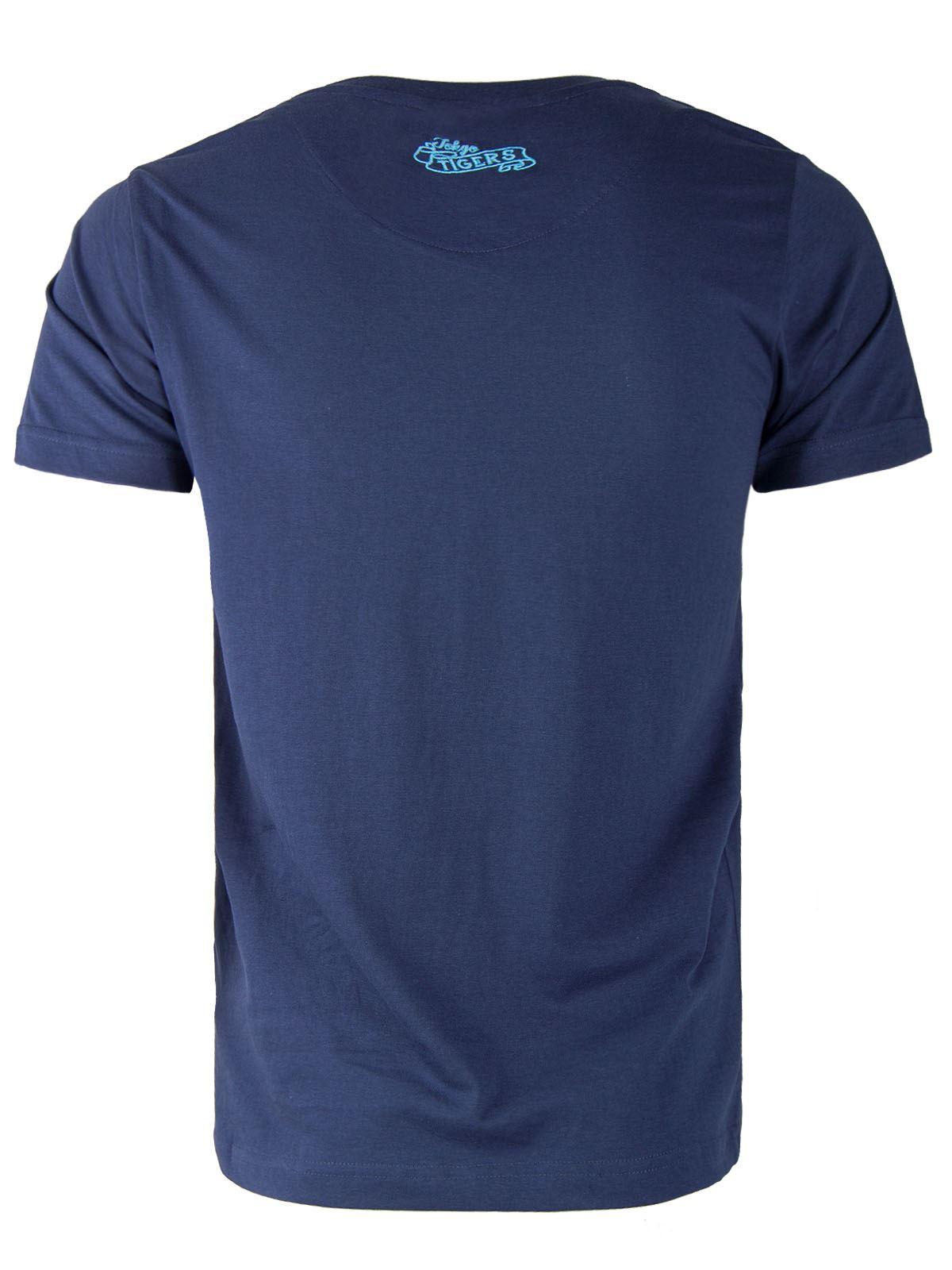 uomo-girocollo-estivo-floreale-motivo-Maglietta-Cotone-Casual