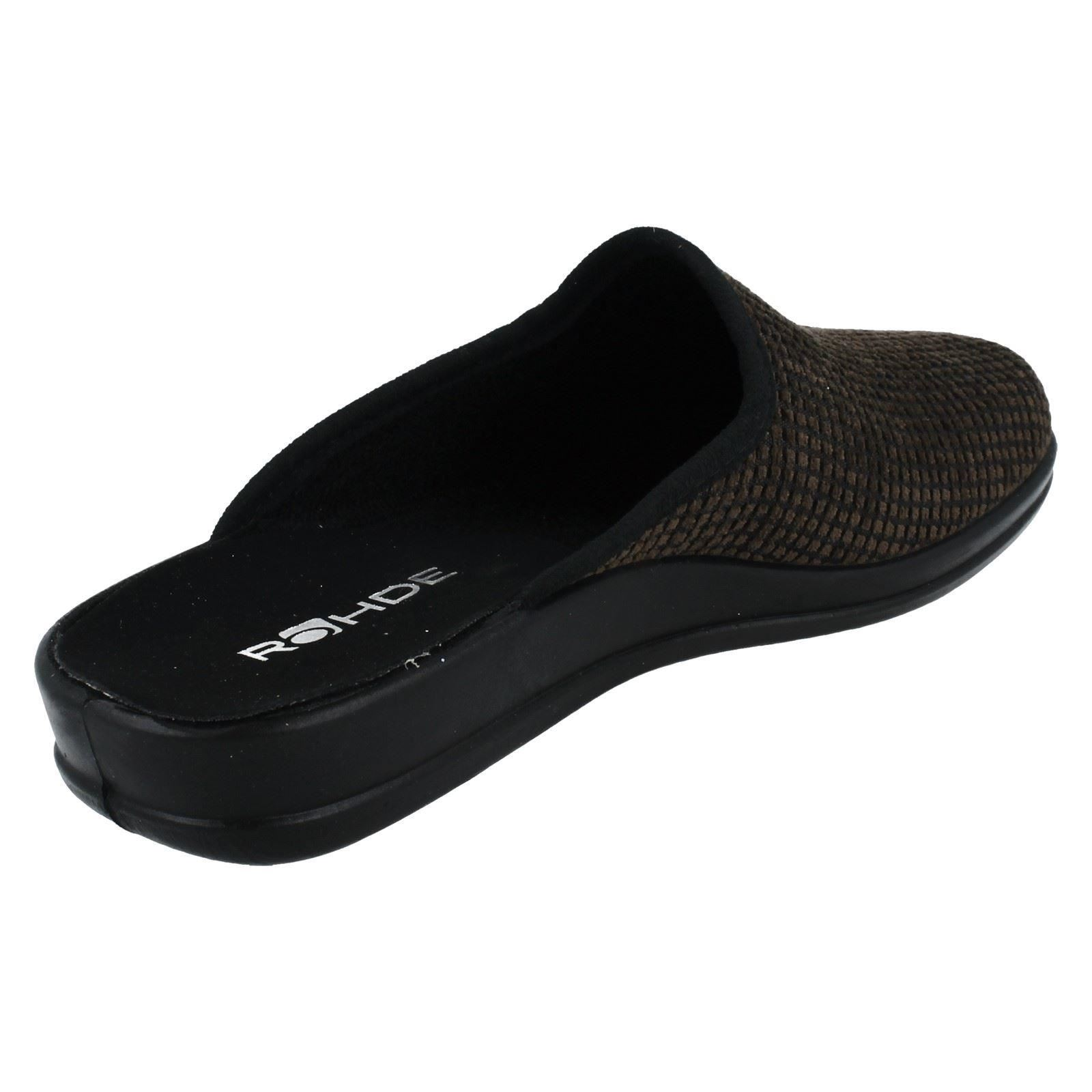 Mens Rohde Textile Mule Slippers *2688*
