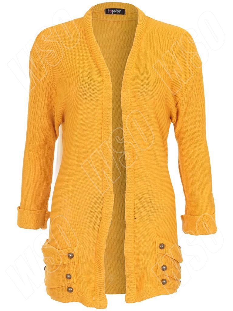 Womens Ladies Knitted Long Sleeve Causal Boyfriend CARDIGAN 14 ...