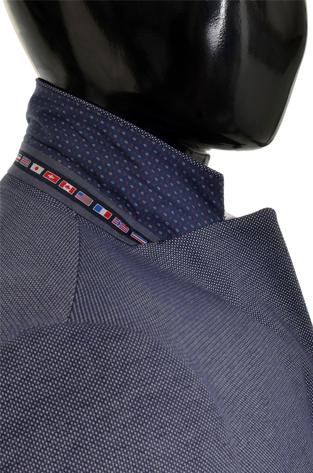 Dettagli su Uomo Design Classico Giacca Blazer Blu Casual Contrasto Finitura Sottile Morbido