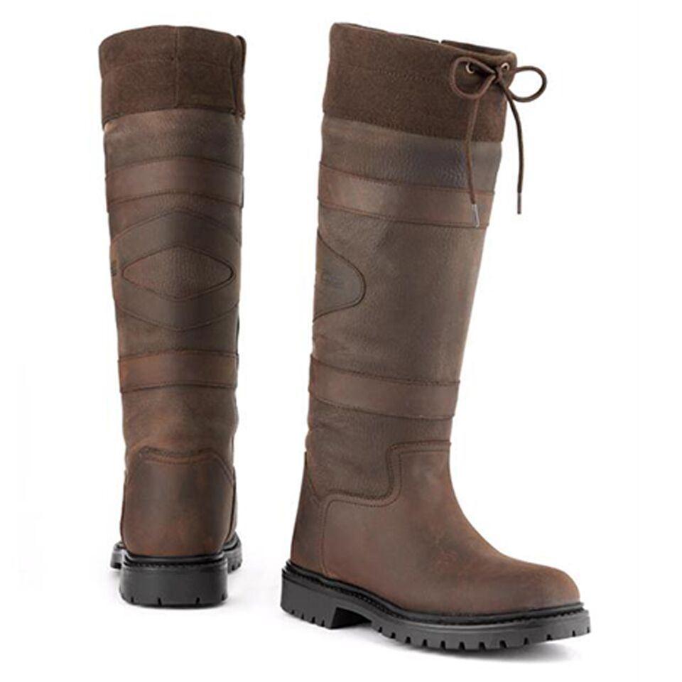 Toggi Quebec Reiten Show Größe Outdoor Leder Wasserfest Land Stiefel Größe Show 4-11 5f0bd3