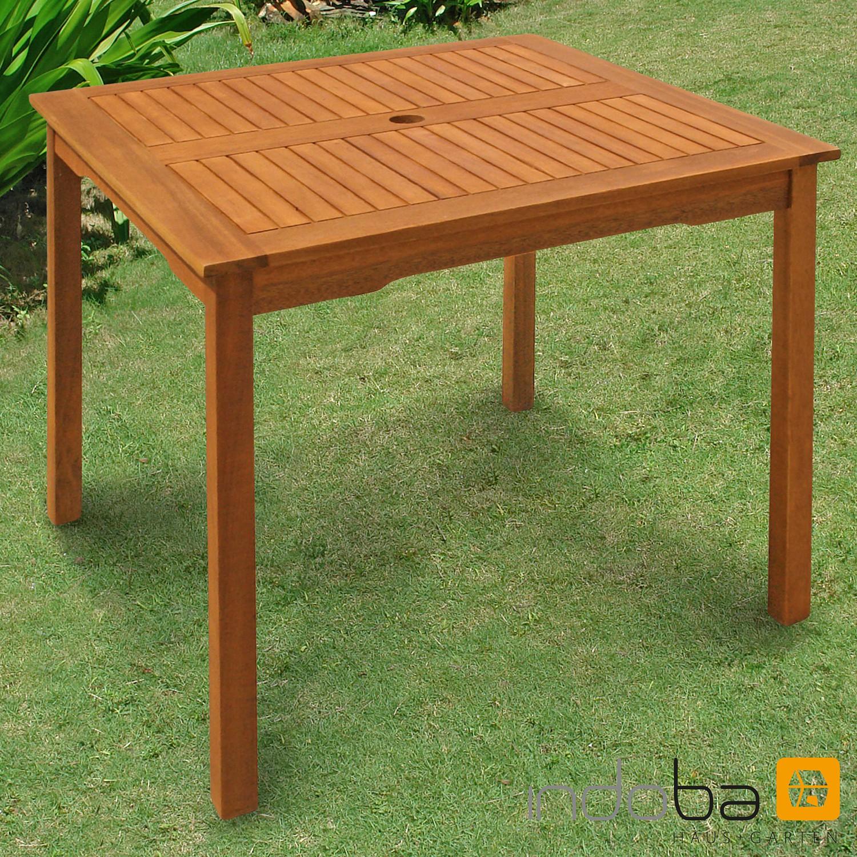 Mesa de jard n comedor madera terraza muebles fsc indoba for Amazon muebles terraza