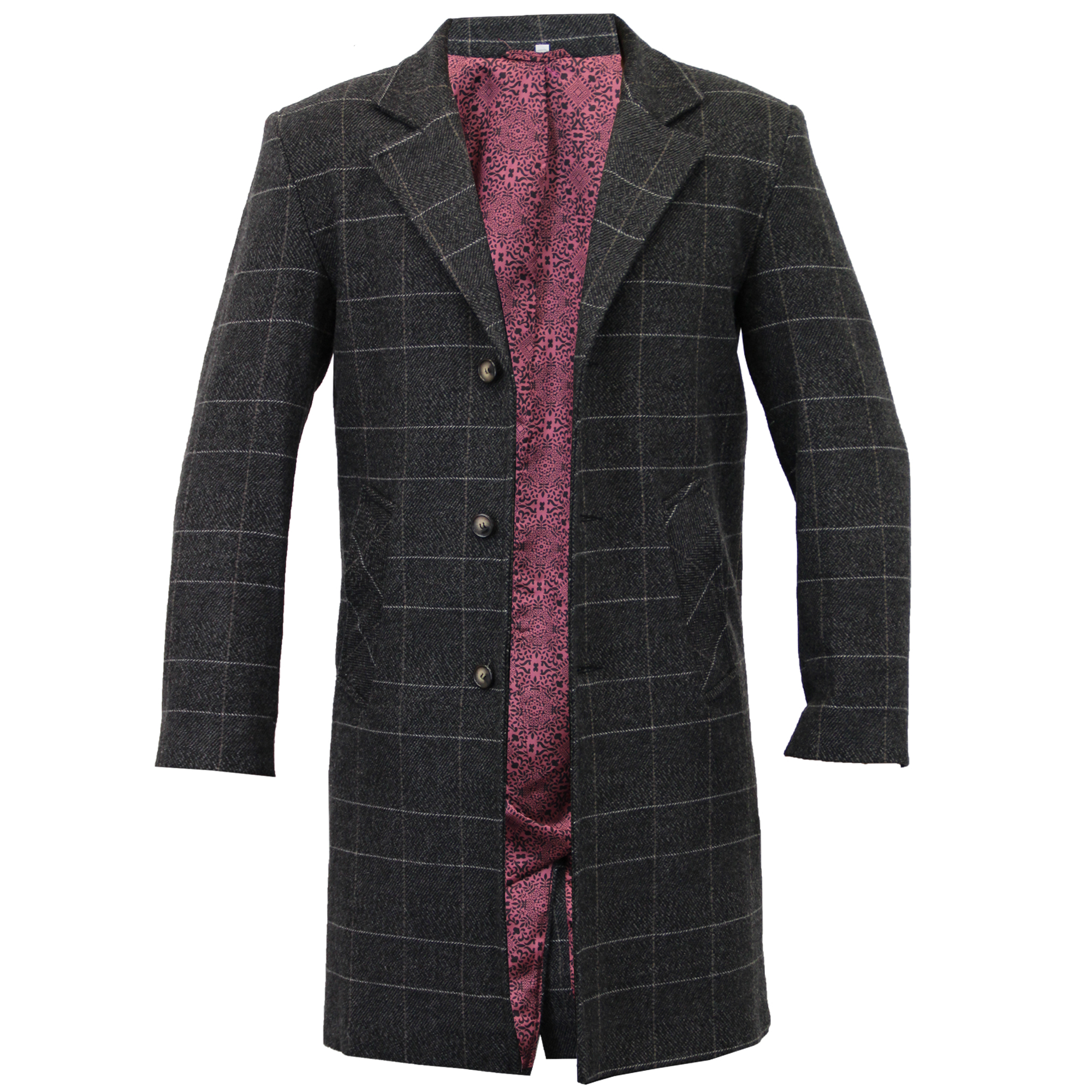 Long wool overcoat