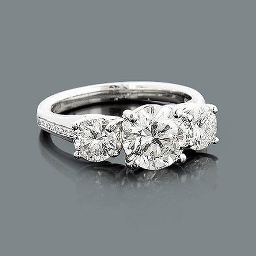 1ffa030189be La imagen se está cargando Anillo-Joyas-Diamantes-Platino-De-Brillantes -Mujer