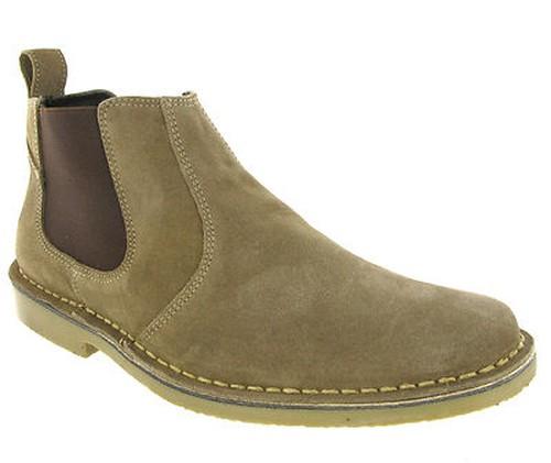 stiefeletten herren chelsea stiefel taupe schwarz wildleder boots 40 46 neu. Black Bedroom Furniture Sets. Home Design Ideas