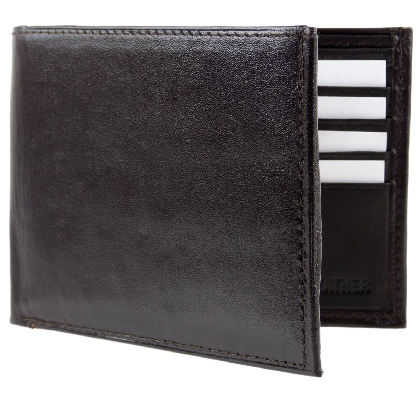 Mens-Quality-Soft-Nappa-LEATHER-Bi-Fold-Wallet-by-Oakridge thumbnail 10