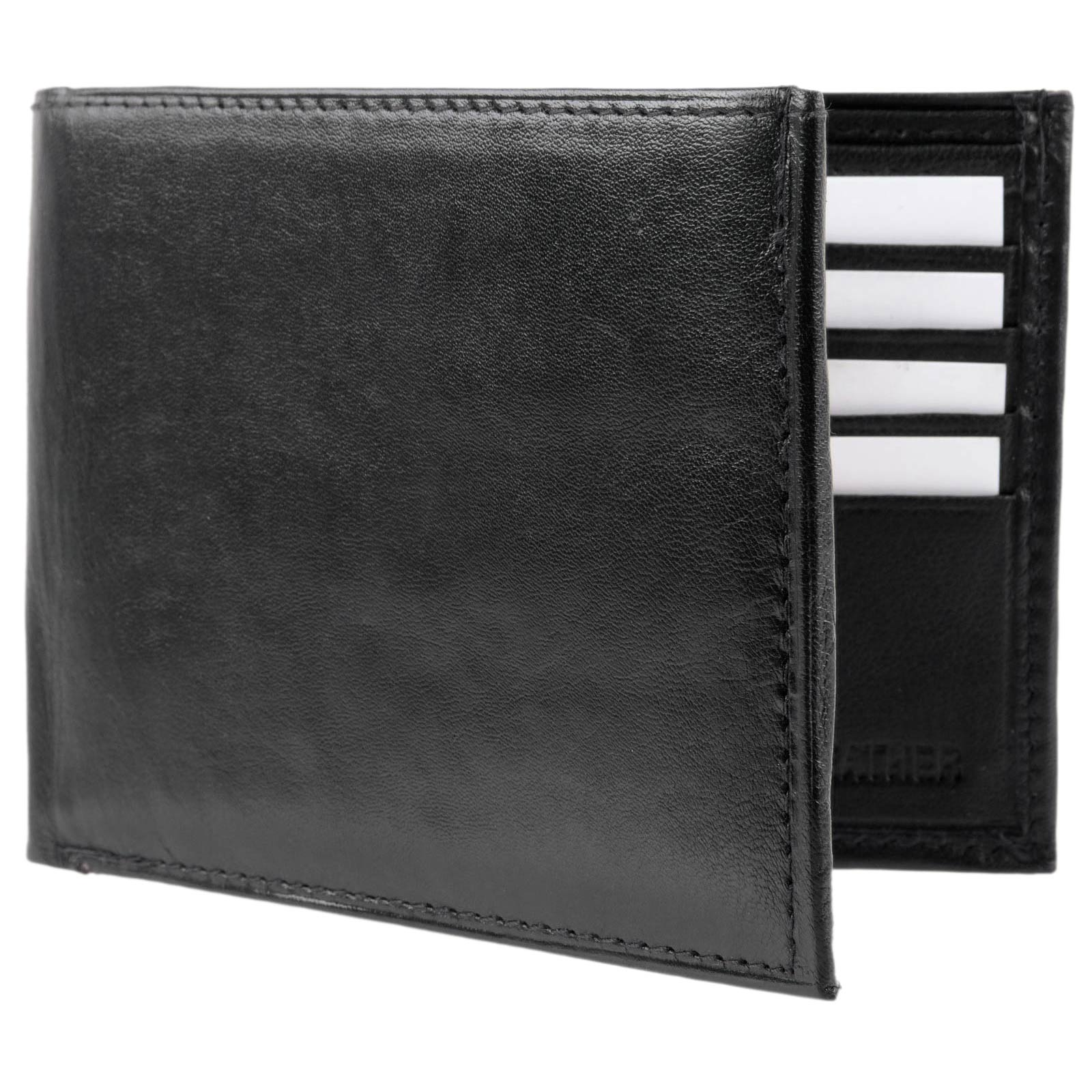 Mens-Quality-Soft-Nappa-LEATHER-Bi-Fold-Wallet-by-Oakridge thumbnail 4