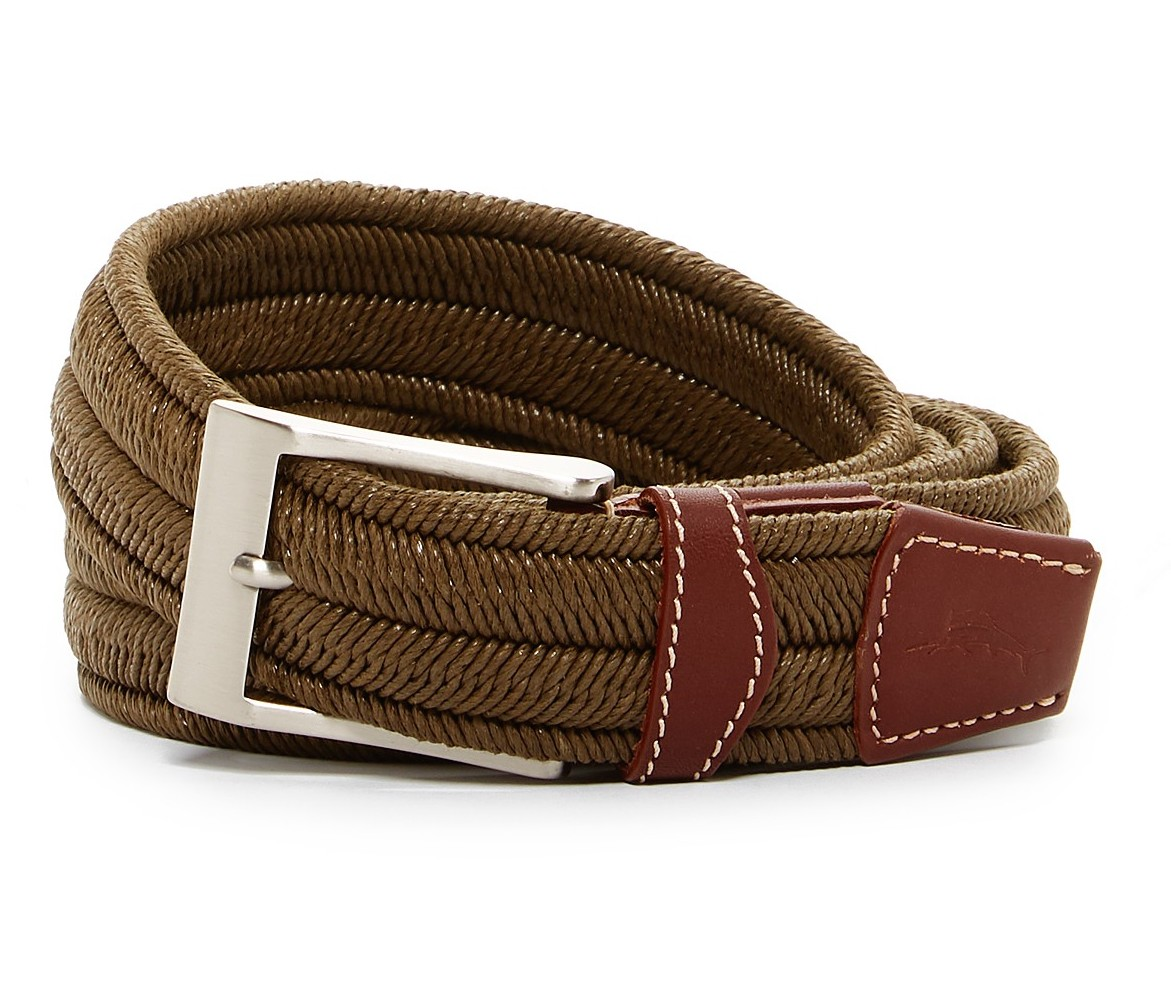 Leather 48 NWT Tommy Bahama Men/'s Size Tan  Belt $82