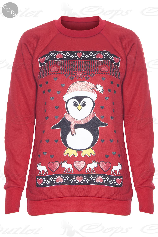 damen weihnachten neuheit rentier strickpulli sweatshirt ebay. Black Bedroom Furniture Sets. Home Design Ideas