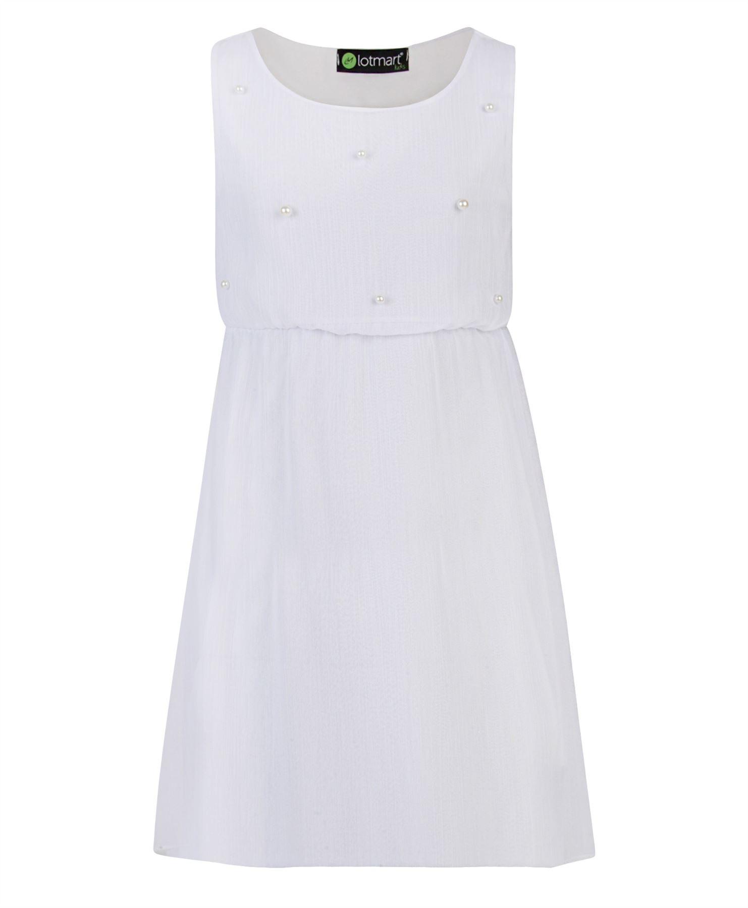 nina-Chiffon-Detalle-De-Perla-sin-mangas-verano-vestido-Casual-Top-Fiesta-3-14