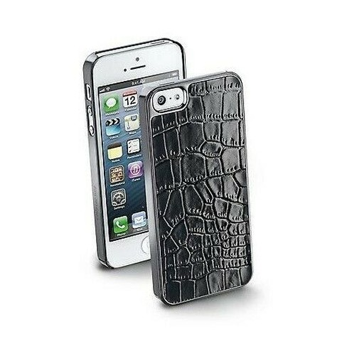 Details about Cover Case Cellular Line Croco Leather Eco Friendly IPHONE 5 5S Film