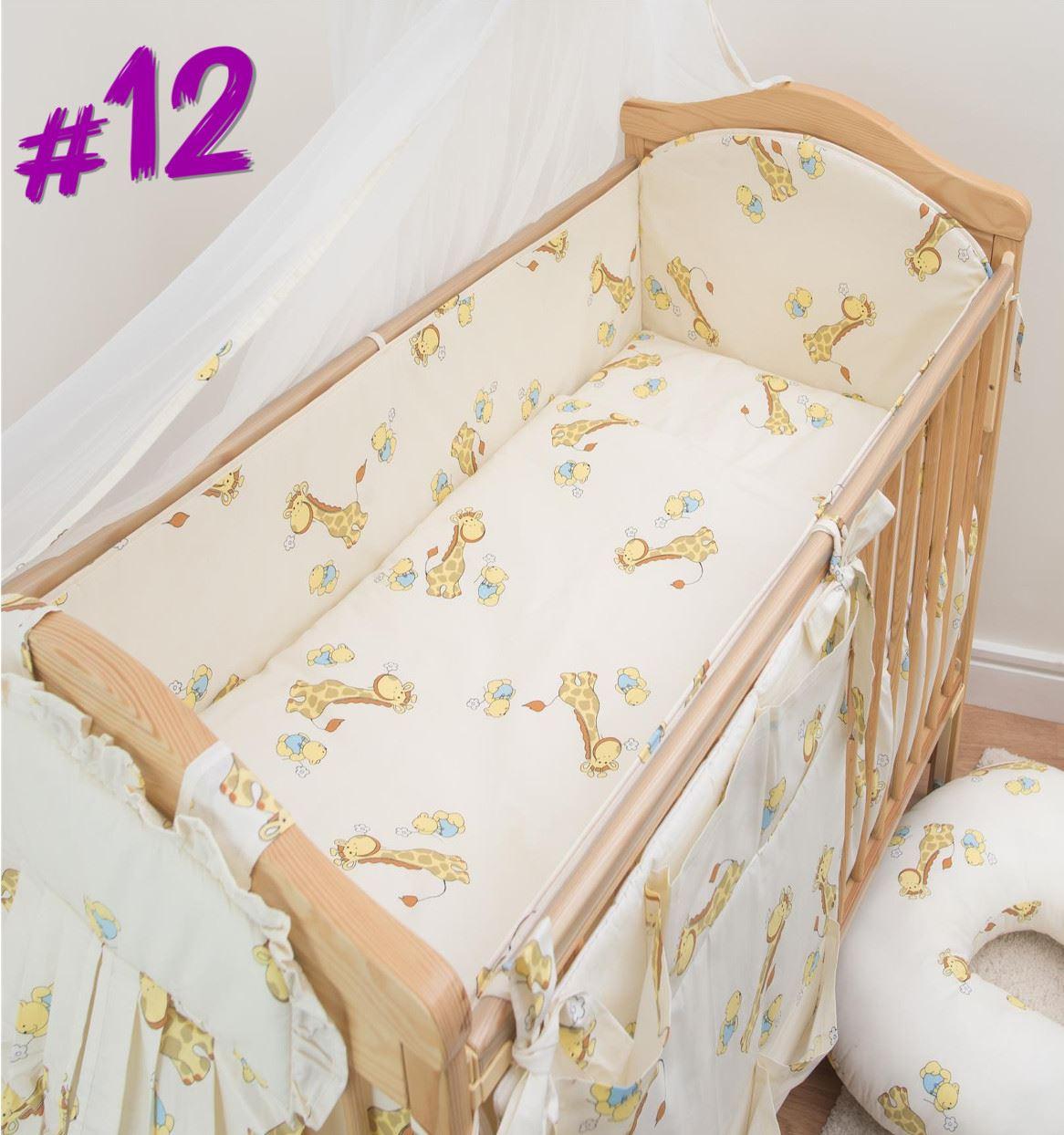 3 teile kinderzimmer kinderbett bettw sche set mit gro en rundum safety nestchen ebay. Black Bedroom Furniture Sets. Home Design Ideas