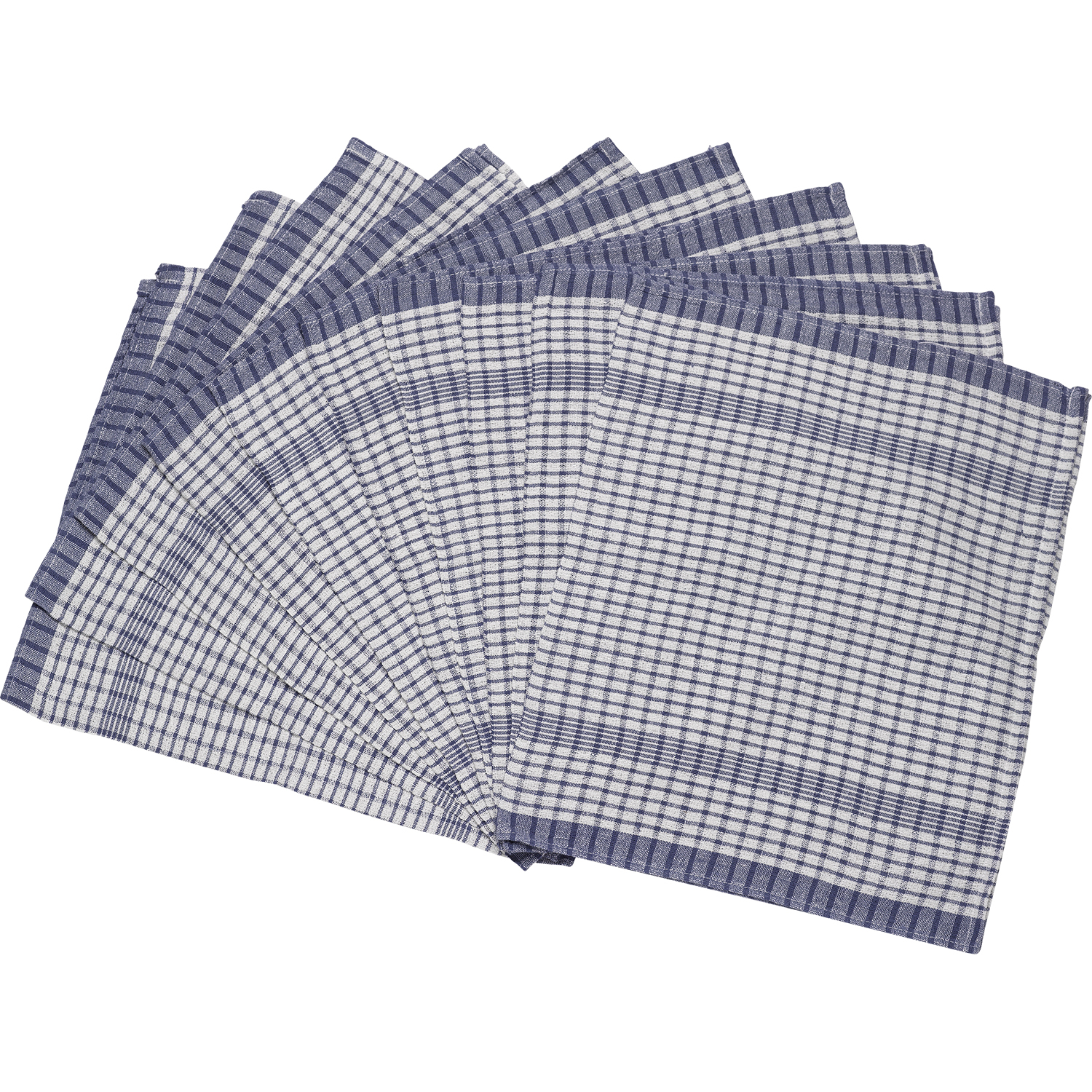 Pack Of Wonderdry Checked Kitchen Tea Towels Absorbent