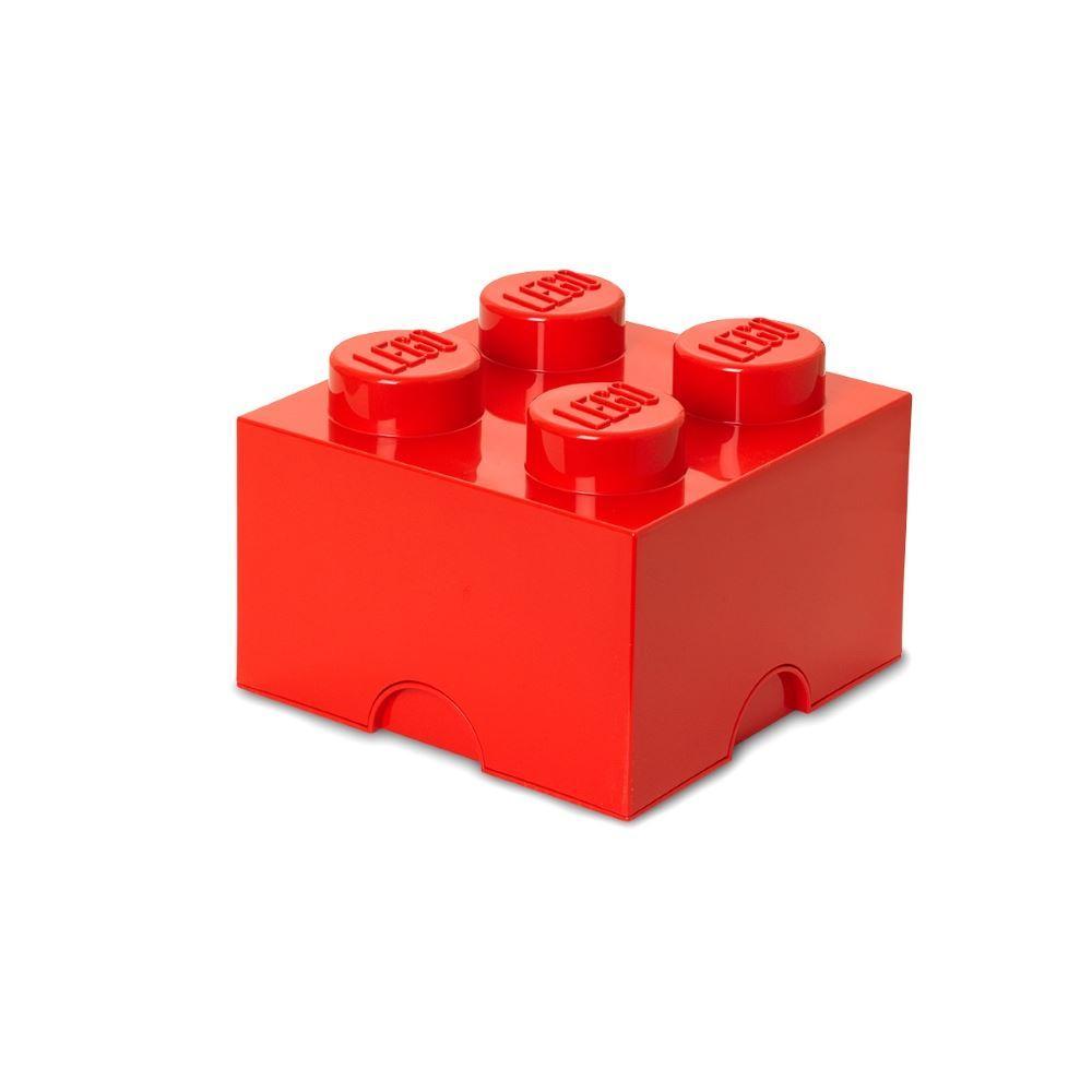 lego medium aufbewahrung 4 ziegelrot blau gelb gr n kinder. Black Bedroom Furniture Sets. Home Design Ideas