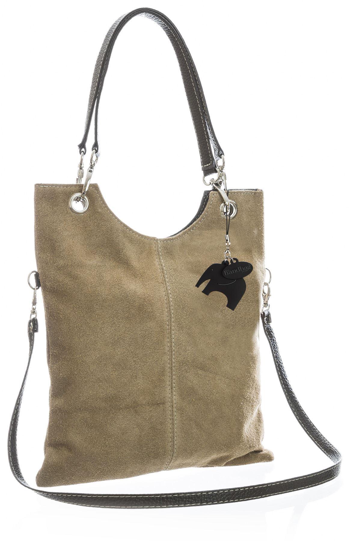 Big Handbag Shop Wildleder Einfarbig Top Griff Abend Clutch Schultertasche