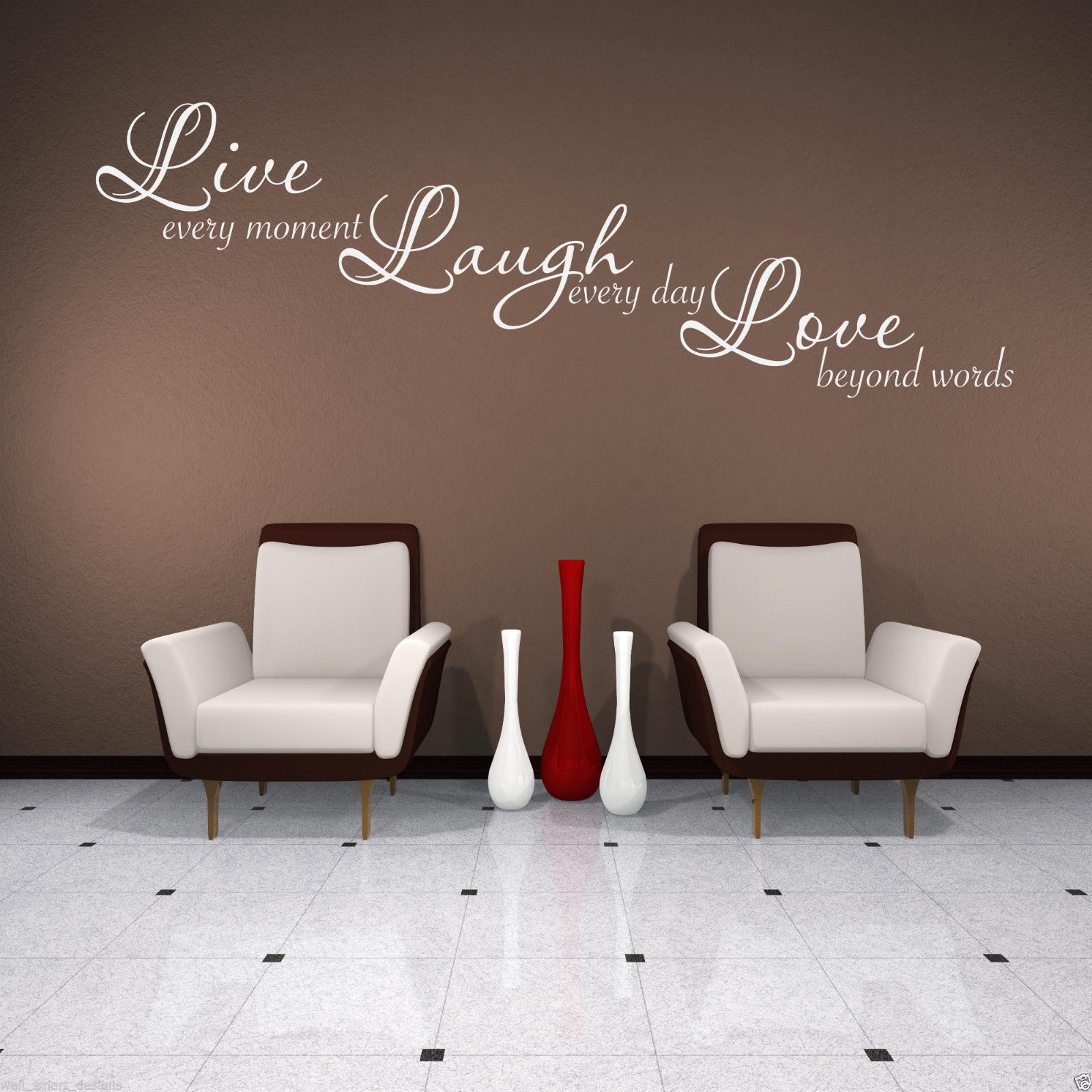 LIVE LAUGH LOVE Wall Art Sticker Lounge Quote  Part 72