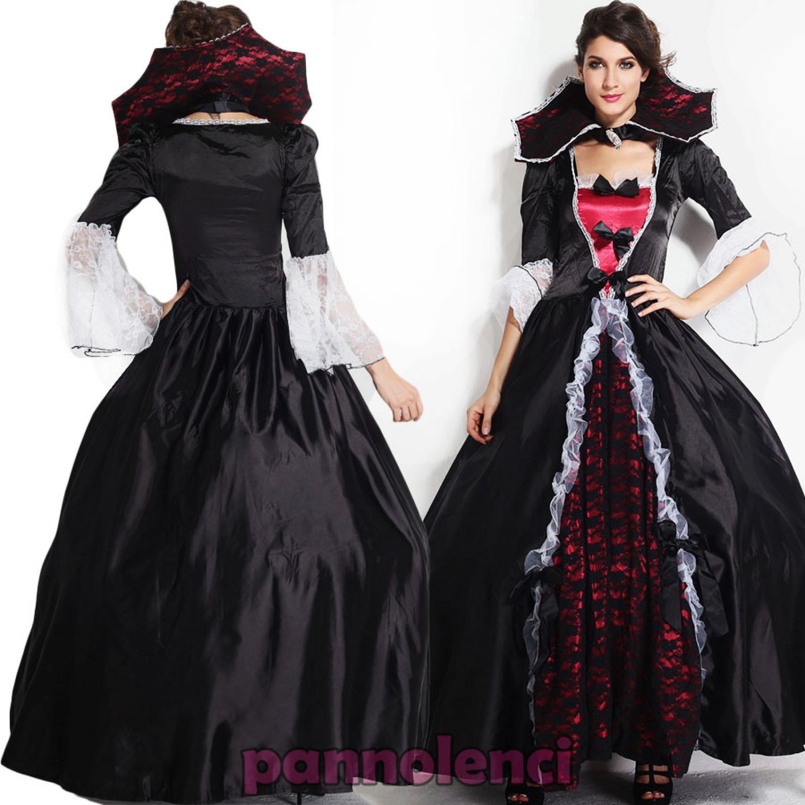 karnevalkleid frau kost m hexe vampir luxus halloween neu dl 1339 ebay. Black Bedroom Furniture Sets. Home Design Ideas