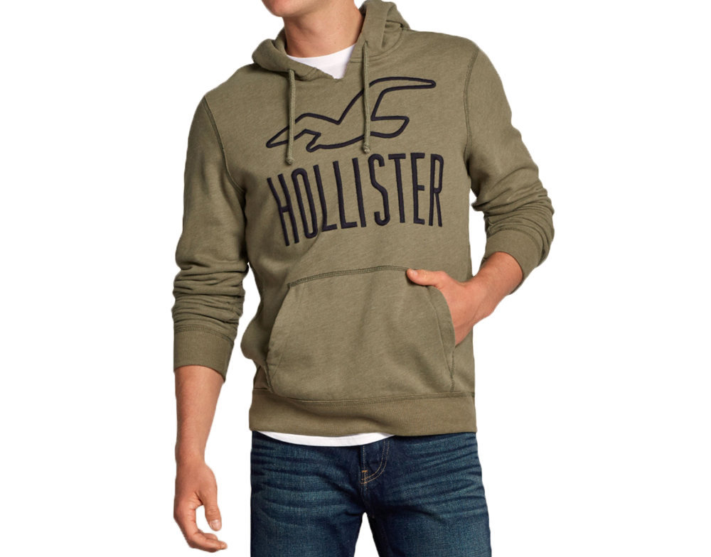 hollister herren klassisch gro es logo pullover oberteil. Black Bedroom Furniture Sets. Home Design Ideas