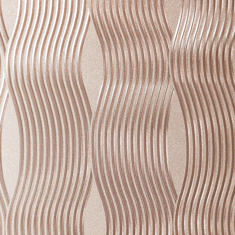 Detalles Acerca De Arthouse Wallpaper Textura Vinilo Metálico De Onda De Aluminio Plata Oro Rosa Mostrar Título Original
