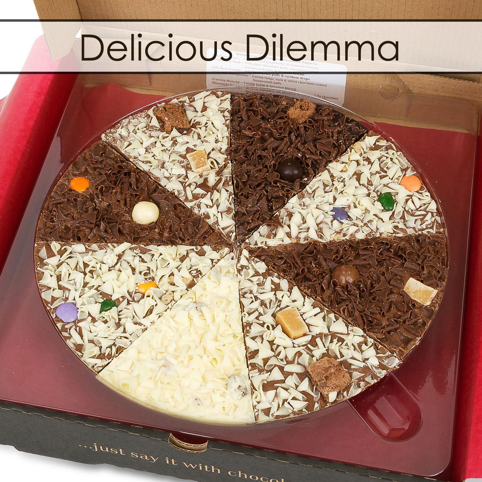 Gourmet-Chocolate-Pizza-17-8cm-BELGA-Leche-CHOC-REGALO-Regalos-Calcetin