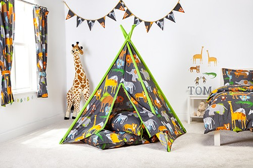 enfants tissu tente de jeu tipi wigwam chambre coucher. Black Bedroom Furniture Sets. Home Design Ideas